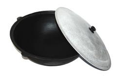Комплект: печь с дымоходом + казан 22л
