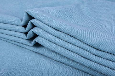 Штора готовая однотонная из портьерной ткани | цвет: стальной синий | размер на выбор