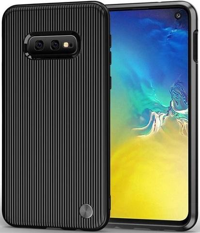 Чехол Samsung Galaxy S10e цвет Black (черный), серия Bevel, Caseport