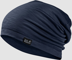Шапка-бини Jack Wolfskin Travel Beanie night blue (55-59см)