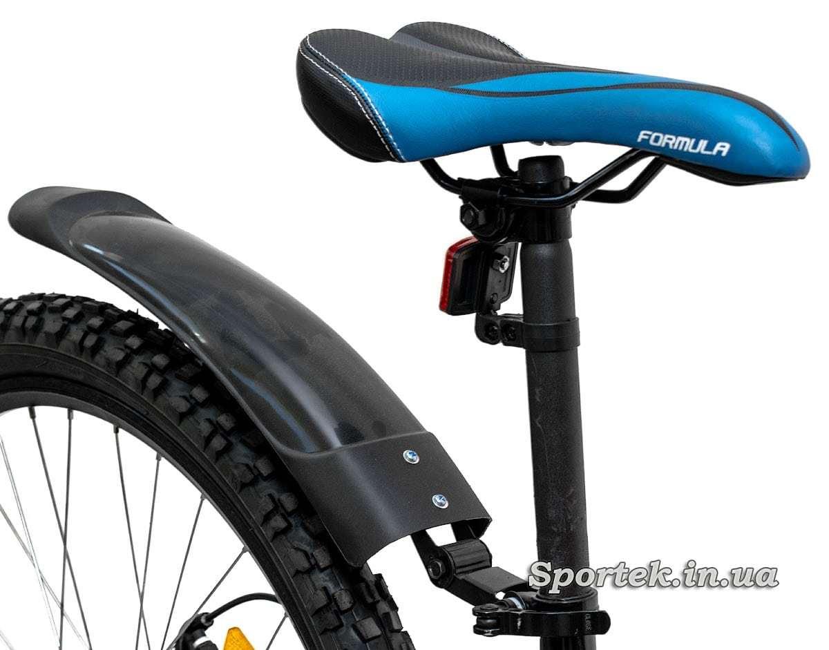 Седло, подседельный штырь и крыло горного универсального велосипеда Formula Blaze DD 2016 (Формула Блейз)
