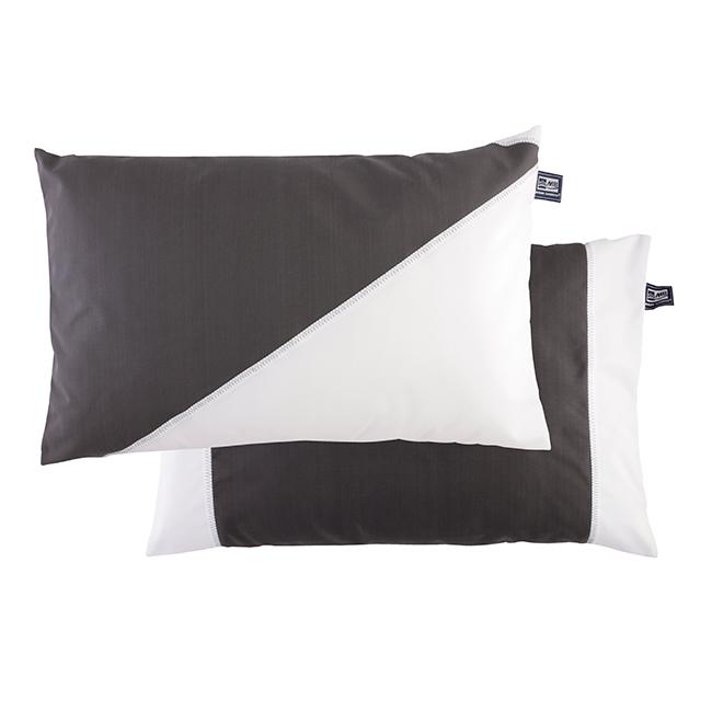 Cushion case set with filling / waterproof / dark grey