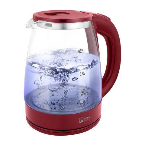 Чайник стеклянный HOME ELEMENT HE-KT185 бордовый гранат