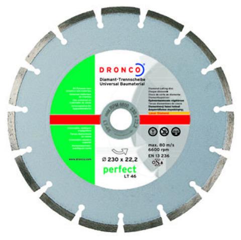 Алмазный сегментный диск Dronco LT-46 180 мм