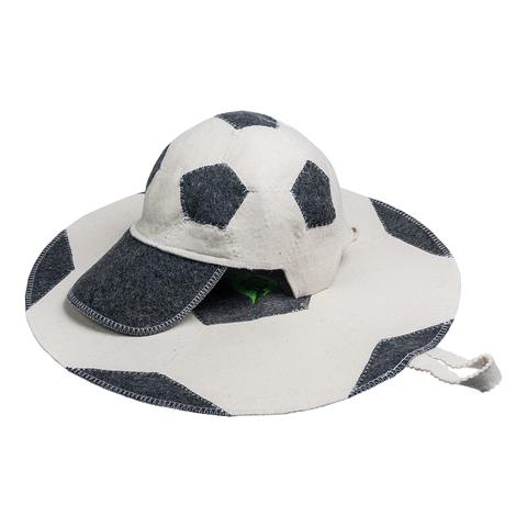 Набор из 2-х предметов (шапка Футбольный мяч, коврик Футбольный мяч), войлок 100%
