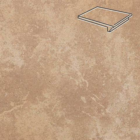 Stroeher - Keraplatte Roccia 835 sandos 340x240x12 артикул 9240 - Клинкерная ступень - флорентинер