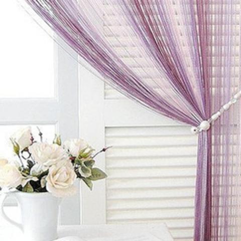 Кисея радуга Розовая, сливовая, сиреневая. Ш-300см., В-280см. Арт.126