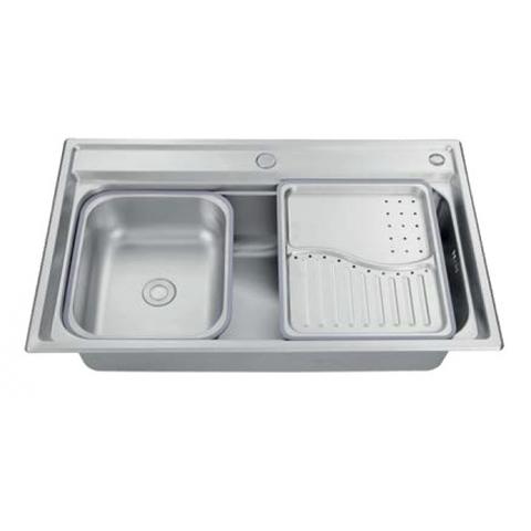 Кухонная мойка врезная из нержавеющей стали Kaiser KSM-7848 780x480x220