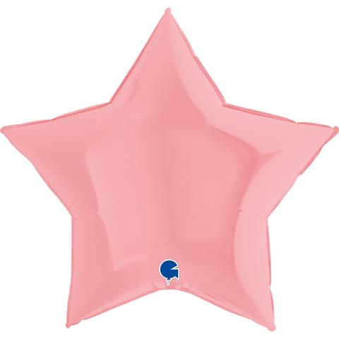 Воздушный шар звезда большая, Светло-розовый макарунс, 91 см