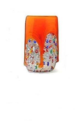 Стакан из муранского стекла большой оранжевый (по предзаказу)