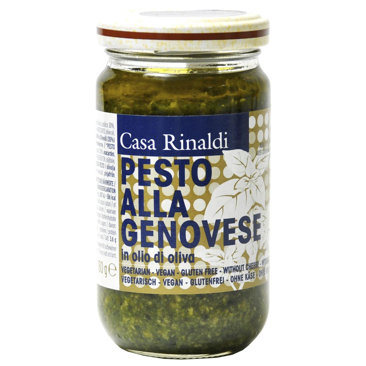 Крем-паста Песто Генуя Casa Rinaldi в оливковом масле 180 гр