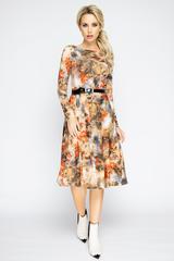 """<p><span>Супер популярная новинка от ELZA! Шикарное платье в романтическом стиле порадует свою обладательницу. Приталенный силуэт, платье отрезное по талии., юбка """"полусонце"""", рукав длинный..(Длины: 46-102,48-103,50-105,52-106.)</span></p>"""