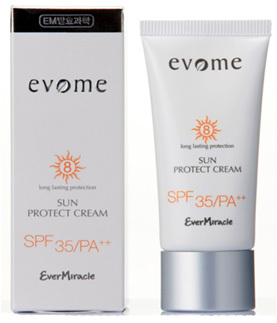 Восстанавливающий питательный солнцезащитный крем с SPF35, Evome