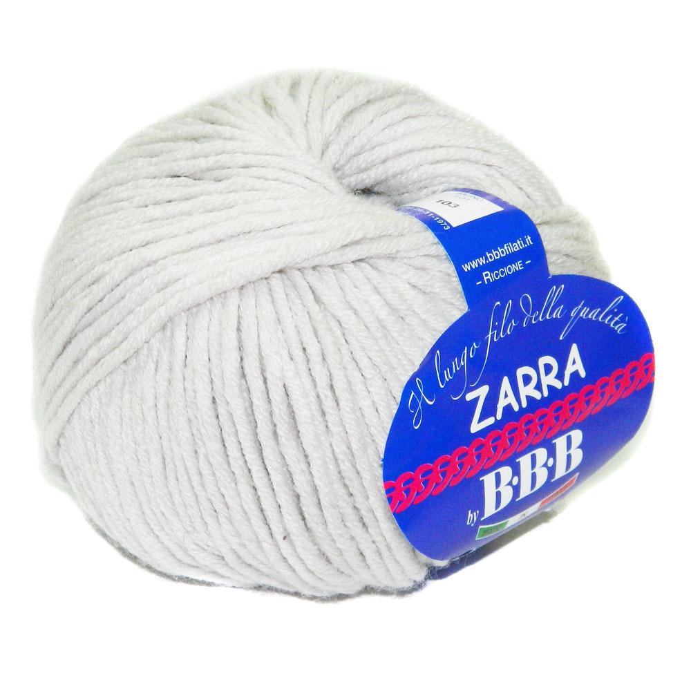 Пряжа BBB Filati Zarra 9501 светло-серый