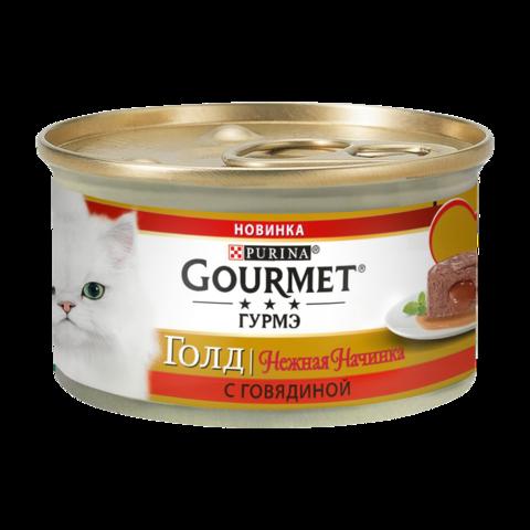 Gourmet Gold Консервы для кошек Нежная начинка с Говядиной