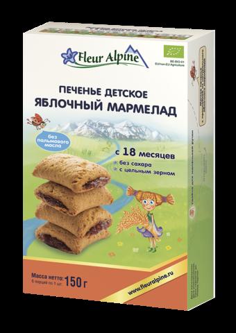 Печенье Fleur Alpine ЯБЛОЧНЫЙ МАРМЕЛАД с 18 месяцев