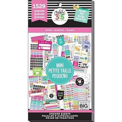 Блокнот со стикерами для ежедневника Create 365 Happy Planner Sticker Value Pack- MOM - 1529 шт