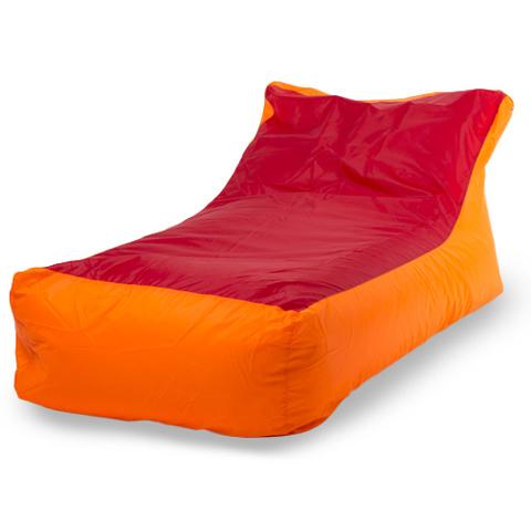 Бескаркасное кресло «Кушетка», Оранжево-красный