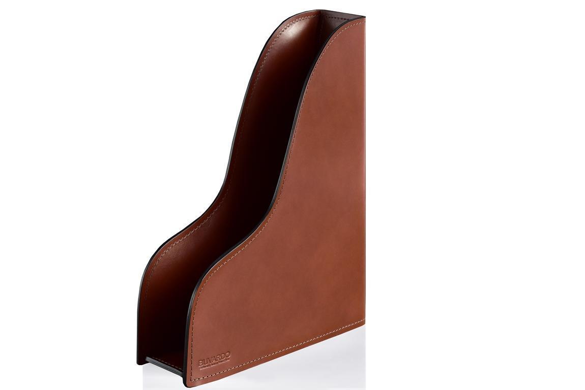 Лоток А4 вертикальный BUVARDO люкс из кожи Full Grain Toscana Tan