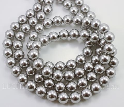 5810 Хрустальный жемчуг Сваровски Crystal Light Grey круглый 8 мм , 5 шт (Картинка)