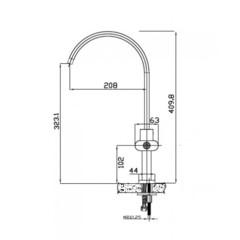 Смеситель KAISER Elite 54033/2070055 для кухни схема