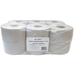 Бумага туалетная в рулонах 1-слойная 12 рулонов по 140 метров