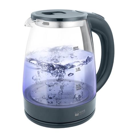 Чайник стеклянный HOME ELEMENT HE-KT185 серый мрамор