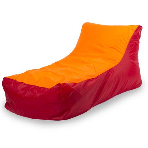 Бескаркасное кресло «Кушетка», Красно-оранжевый