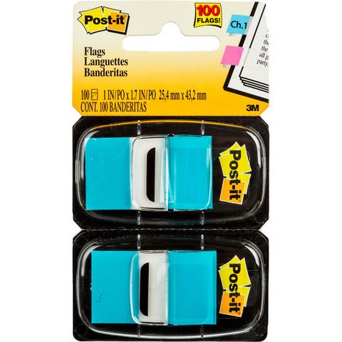 Клейкие закладки пласт. 1цв.по 100л. 25мм голуб Post-it ?680-BB2