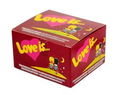 Жвачка Love is — вишня-лимон, блок 20 шт.