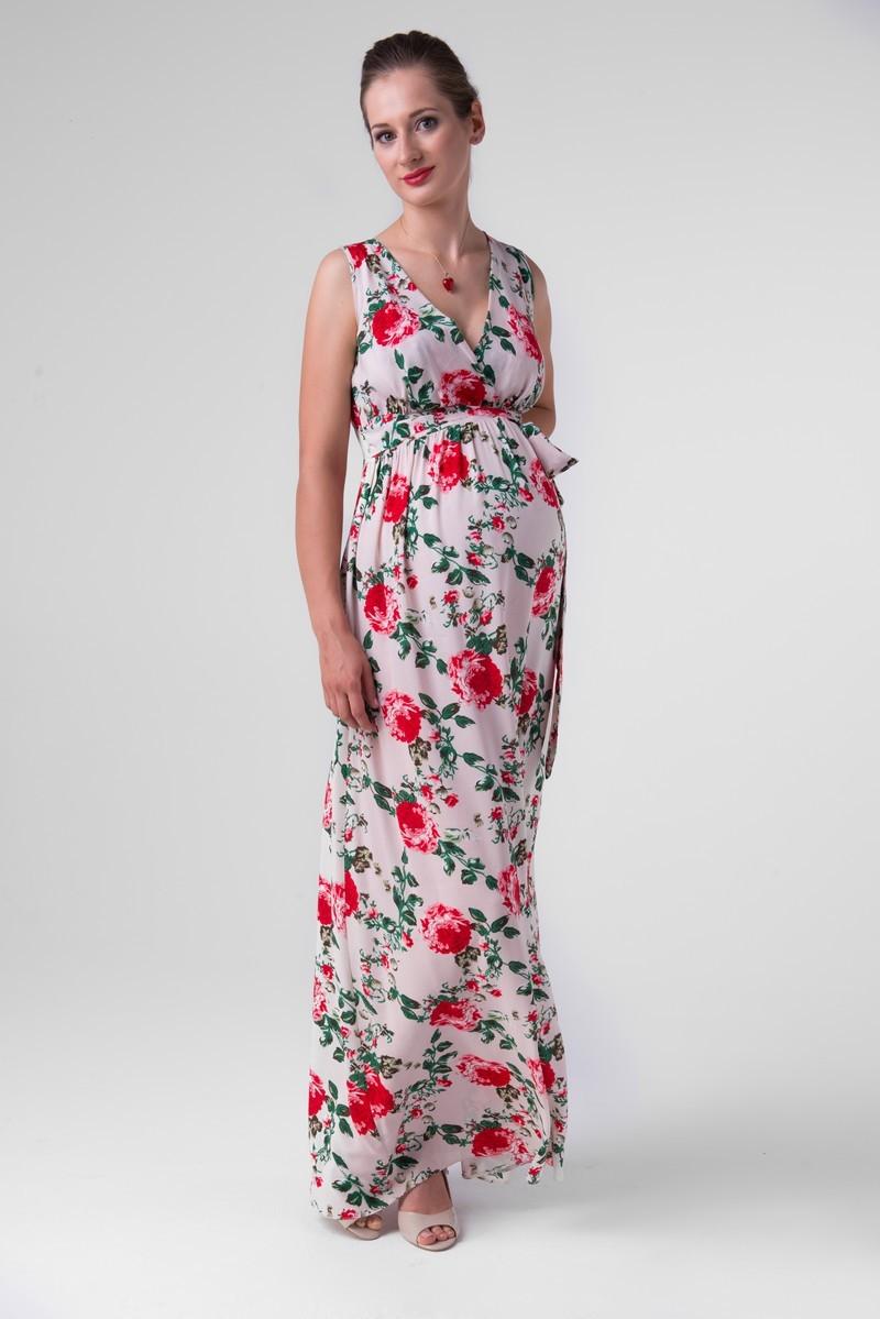 Фото платье для беременных Mama i Ja от магазина СкороМама, цветочный принт, размеры.