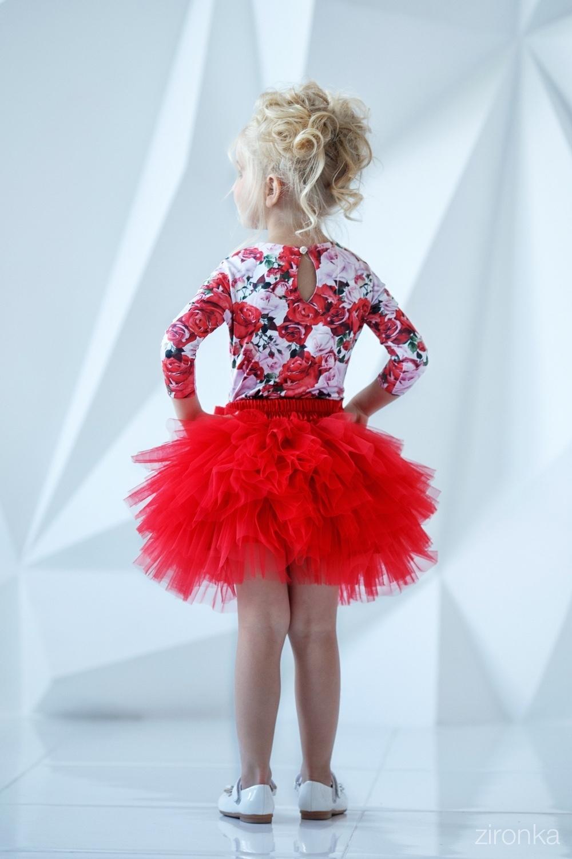 Комплект (блузка, юбка) для девочки 64-7005-4