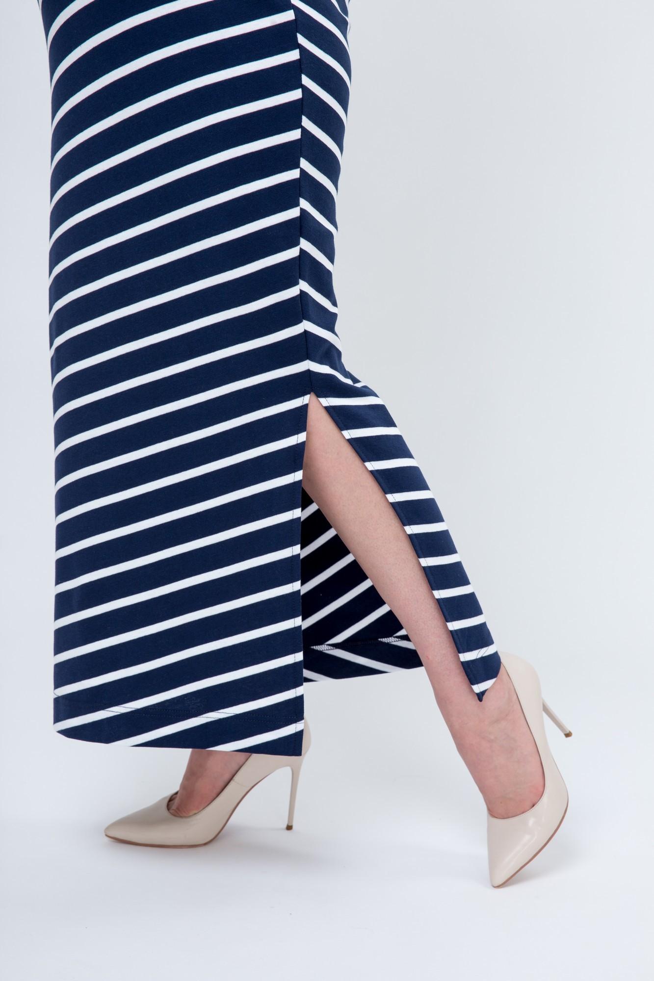 Фото платье для беременных и кормящих Magica bellezza, длинное от магазина СкороМама, синий, размеры.