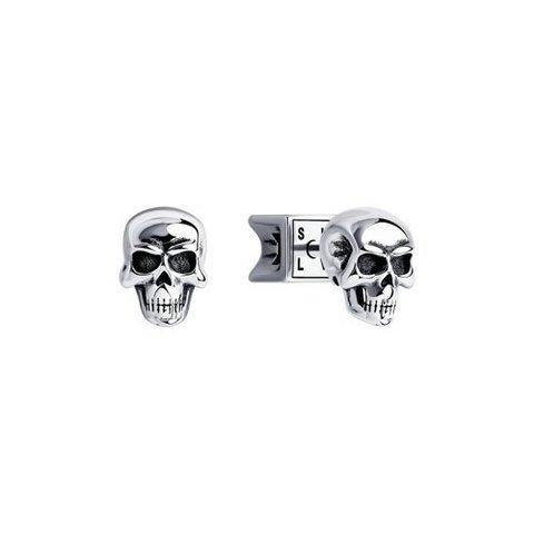 95020076 - Серьги-гвоздики из серебра в форме Черепа