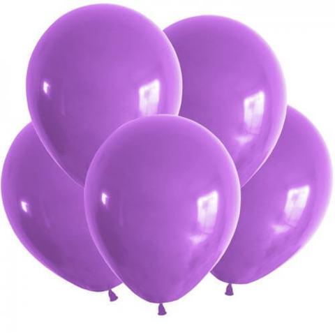 Воздушные шары с гелием сиреневые