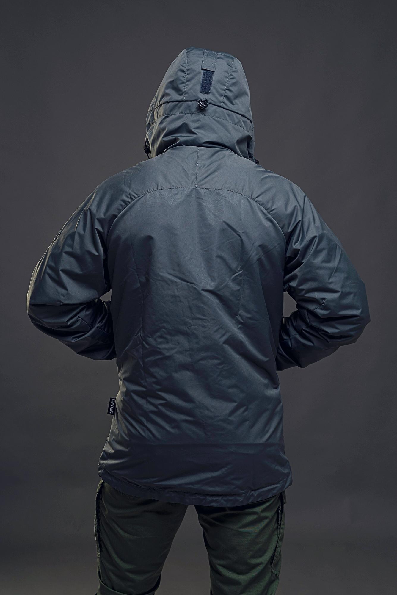 Куртка на молнии Варгградъ мужская тёмно-серая (без флиса)