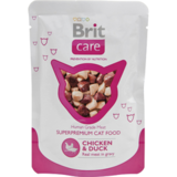BRIT Care Cat Chicken & Duck Консервы для кошек Курица с уткой 24х80 г. (пауч) (100121)