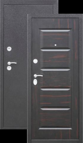 Дверь входная Кайзер Арабика, 2 замка, 0,8 мм  металл, (медь антик+венге)