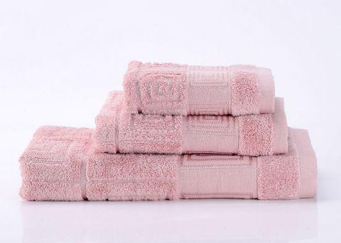 Miranda-6 розовое махровое  полотенце Valtery