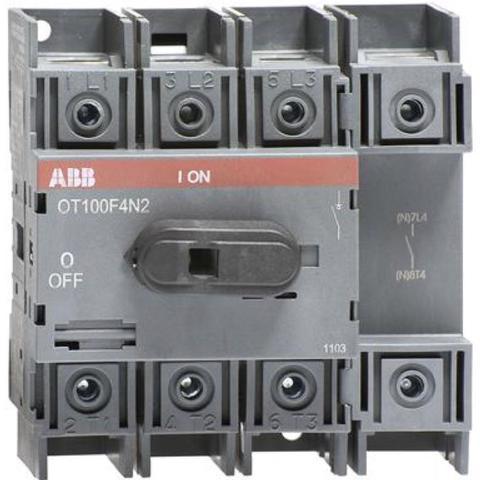 Выключатель нагрузки-рубильник до 100 A, 4-полюсный OT100F4N2. ABB. 1SCA105018R1001