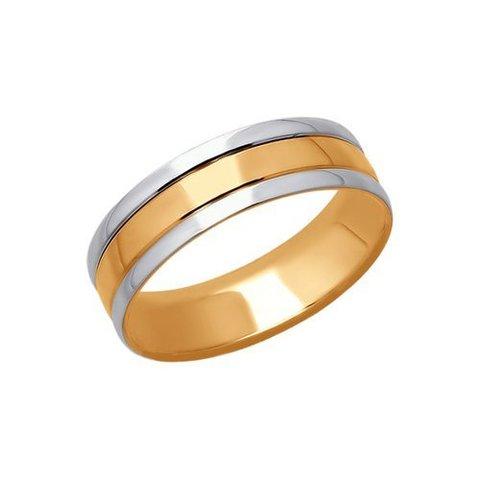 110164  -  Обручальное кольцо из комбинированного золота