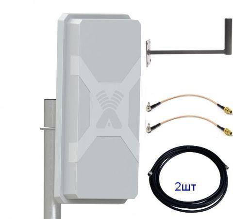 Антенный комплект Nitsa-5 MIMO с кабельными сборками 2шт и пигтейлами TS9/CRC9 2шт