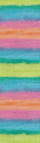 Пряжа Alize Bella Batik меланж радуга 4151