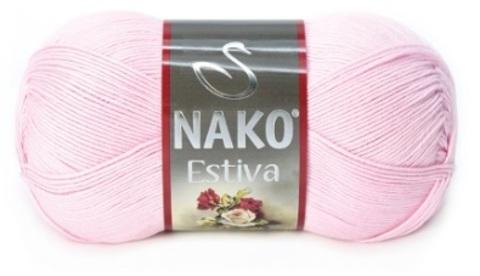 Пряжа Nako Estiva 4857 розовый