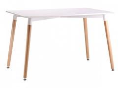 Стол TANSY 140 белый/массив бука
