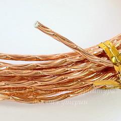 Проволока для рукоделия 2 мм, цвет - светлая медь, примерно 5 метров