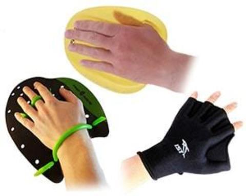Купити лопатки, рукавички для плавання, акваперчаткі для аквааеробіки