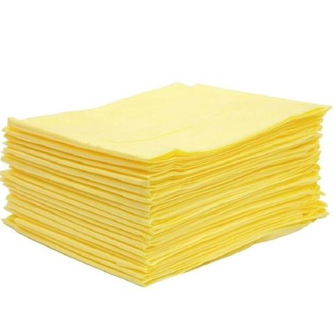 Салфетки для солярия одноразовые  40*40 смс, 20гр/м2, 100 шт. желтые