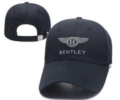 Кепка с вышитым логотипом Бентли (Бейсболка Bentley) черная