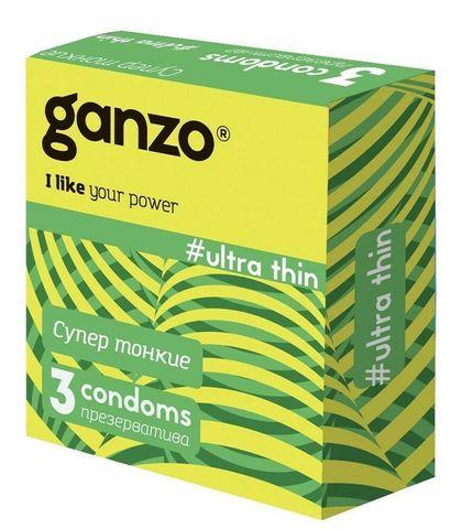 Презервативы GANZO RIBS, No3 (Ребристые, 3шт. в упак.)
